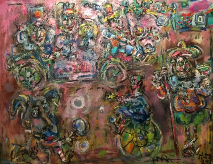 """Painting titled """"Coach of dreams 2 /…"""" by Erno Toth, Original Art, Oil"""