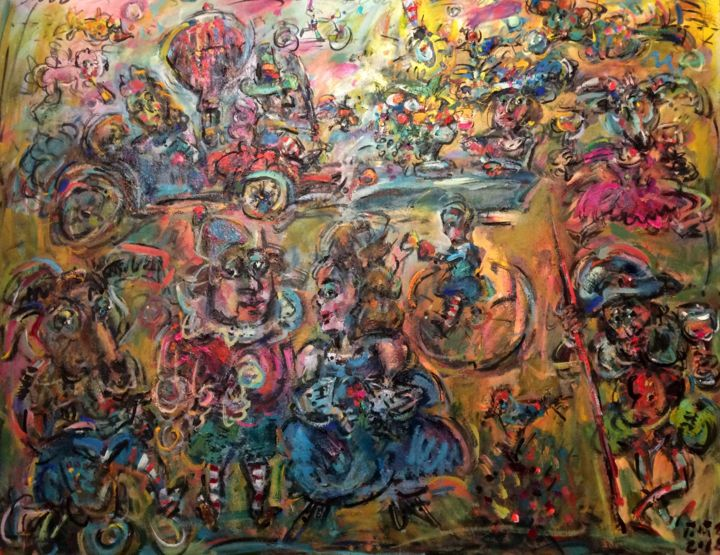 """Painting titled """"Coach of dreams 1 /…"""" by Erno Toth, Original Art, Oil"""
