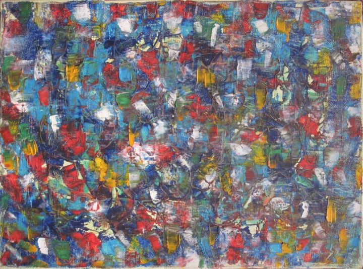REFUS TOTAL - Painting,  0.8x13.4x9.8 in, ©2000 by Daniel Toublanc -                                                                                                                                                                                                                                                                                                                                                                                                          Abstract, abstract-570, Abstract Art, Daniel Toublanc, huile sur toile, refus total, abstraction totale, abstraction gestuelle