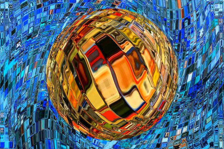 Digital Arts, digital painting, abstract, artwork by Daniel Toublanc