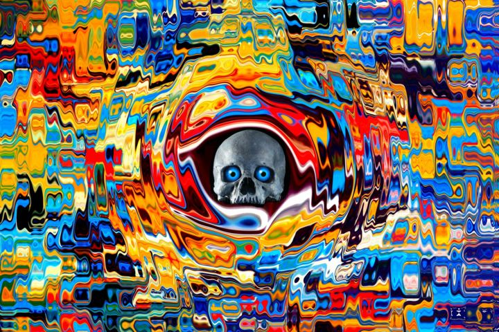 HORRIBILE VISU - Digital Arts,  31.5x47.2x0.8 in, ©2016 by Daniel Toublanc -                                                                                                                                                                                                                                                                                                                                                                                                                                                      Abstract, abstract-570, Outer Space, daniel toublanc, horribilé visu, art digital, acrylique, toile sur châssis, fantastisque