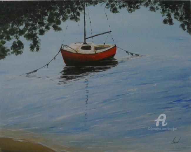 P1080734web.JPG - Painting,  40x50 cm ©2012 by Serge Toulgoat -