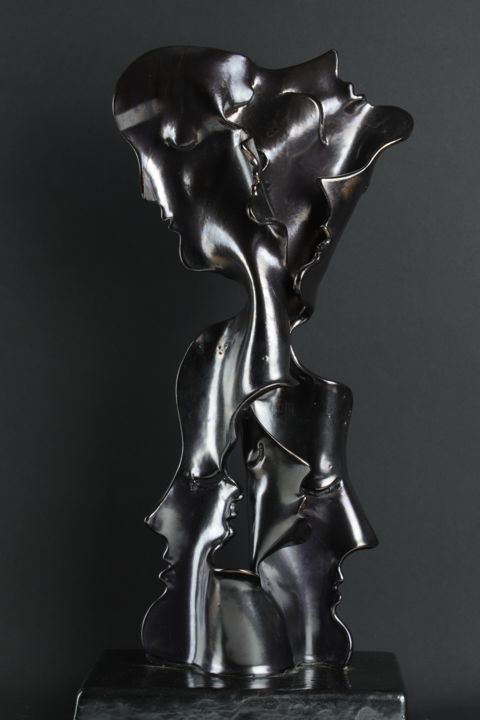 """Sculpture titled """"Simply Complicated"""" by Katalin Tovolgyi, Original Art, Clay"""