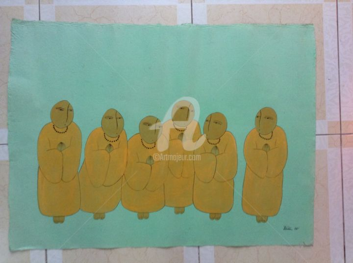 """Painting titled """"Monk Original Vietn…"""" by Thanh Tam Ta, Original Art, Other"""