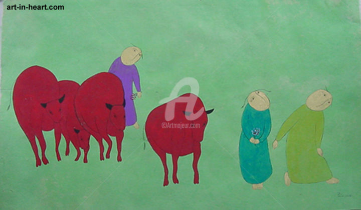 """Painting titled """"Children  Orig Viet…"""" by Thanh Tam Ta, Original Art, Other"""