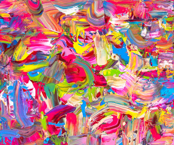 """Painting titled """"Sparkling and Sweety"""" by Tran Tuan, Original Art, Acrylic Mounted on Stretcher frame"""