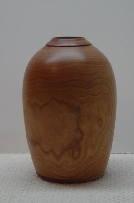 Weed Pot #2 - Sculpture,  9x6 in, ©2008 by Diane Tremaine -                                                              Wood