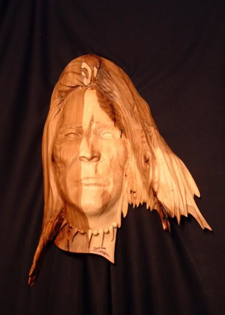 Chief Dull Knife - Sculpture,  16 in, ©2010 by Diane Tremaine -                                                              Chief Dull Knife  Native American Indian