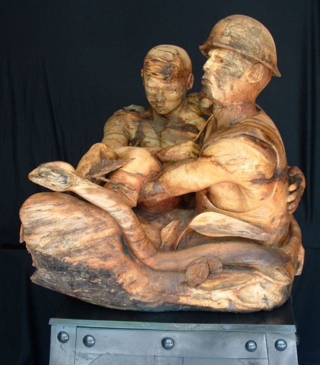 They Believe In Us - Sculpture ©2012 by Diane Tremaine -            This is 2/3rds life size. It currently weighs about 200 pounds.