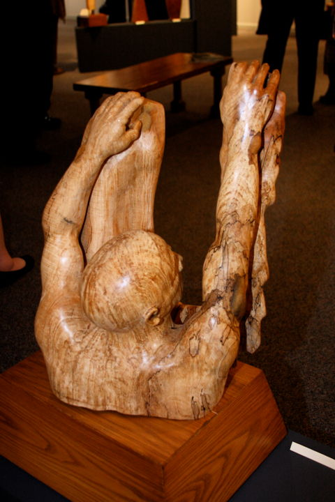 Mountains - We All Have Them - Sculpture ©2014 by Diane Tremaine -                        Wood