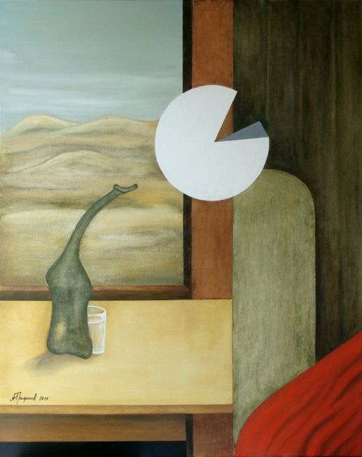 In a train - Painting ©2011 by Alexander Trifonov -