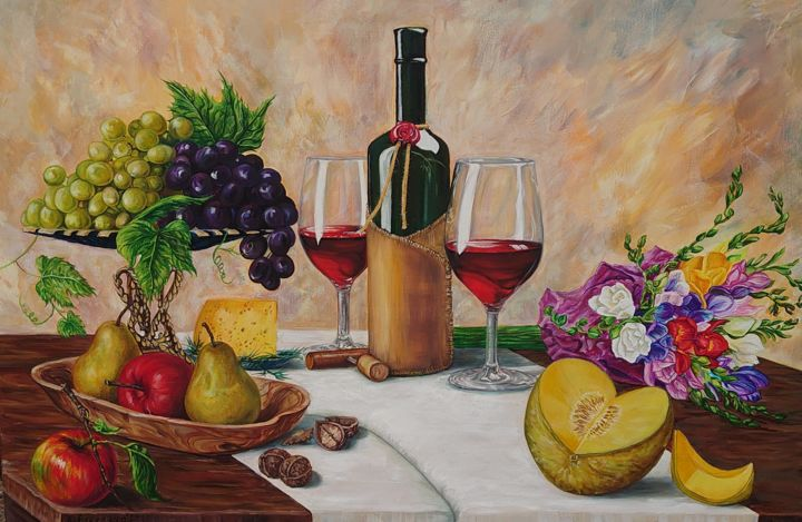 Painting, oil, classicism, artwork by Katerina Evgenieva