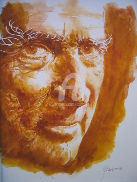 ritratto - Painting,  40x30 cm ©2004 by Gian Piero Trucco -                            Portraiture, ritratto