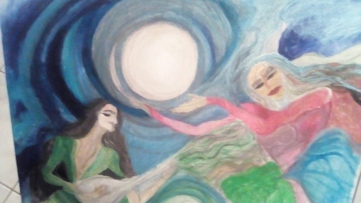 """Painting titled """"Donne cantanti"""" by Leila Turk, Original Art,"""