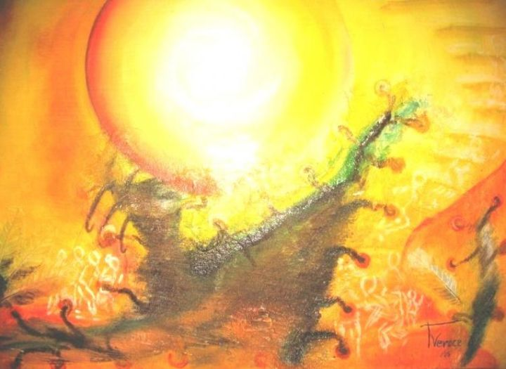 """Painting titled """"The light"""" by Princess Veroce, Original Art, Oil"""