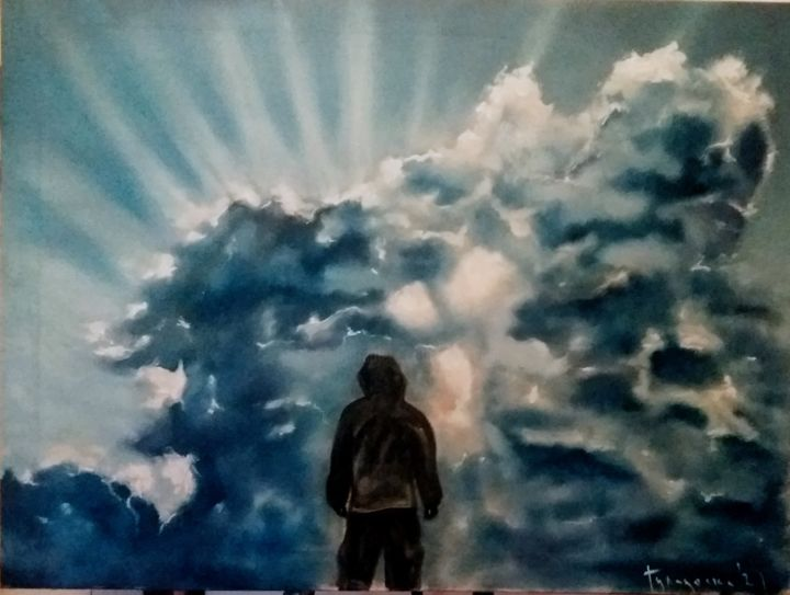 """Painting titled """"heaven can wait"""" by Dejan Gulicoski, Original Art, Oil"""
