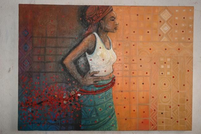 """Drawing titled """"After Performance"""" by Uchay Joel Chima, Original Art,"""