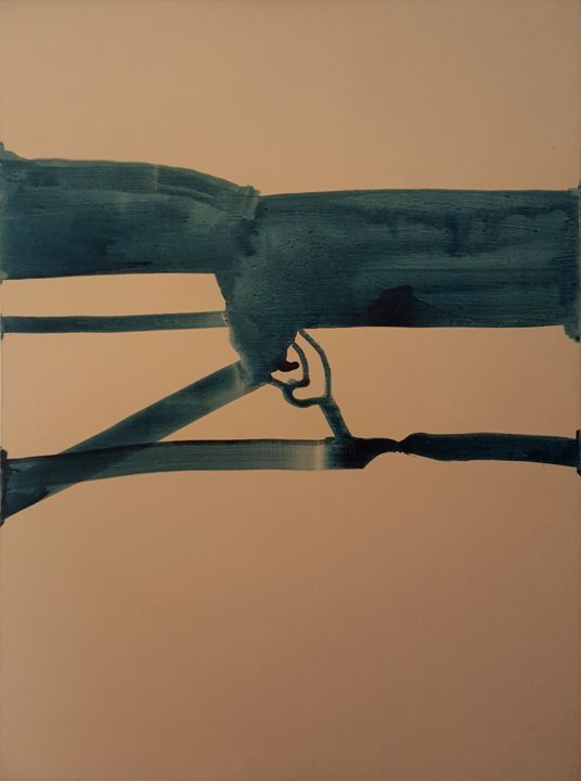 """Painting titled """"Trigger"""" by Udi Cassirer, Original Art, Acrylic"""