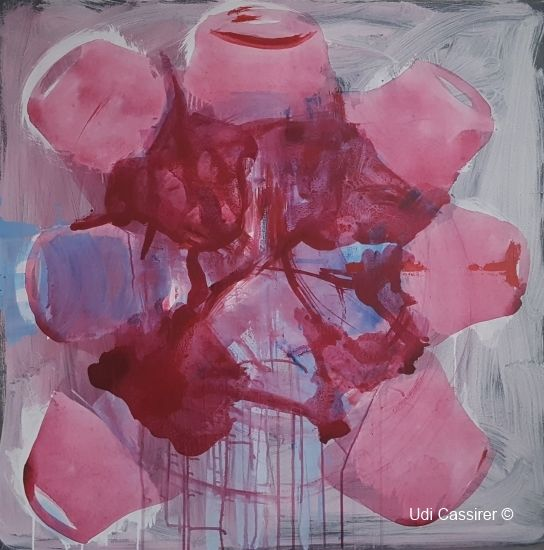 """Painting titled """"Bouquet"""" by Udi Cassirer, Original Art, Acrylic"""