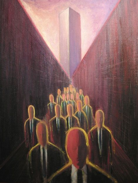 """Painting titled """"The sunset over the…"""" by Daisuke Ujuan, Original Art, Oil"""