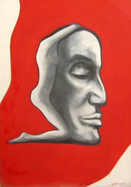 """Painting titled """"The Thinker.2008.ca…"""" by Станислав Украинцев, Original Art, Oil"""