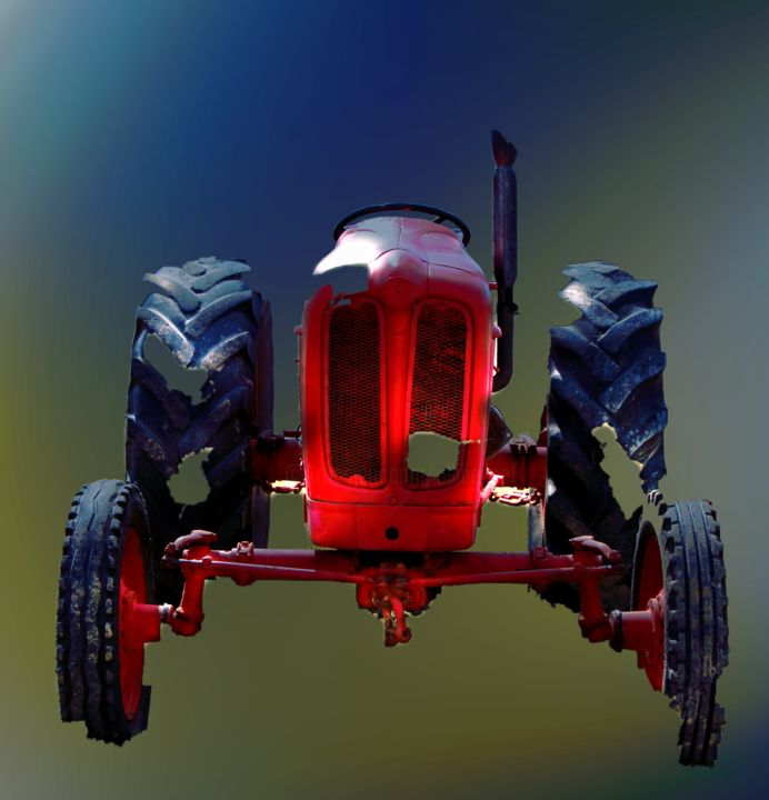 VI - Photography ©2019 by Ulli Heupel -                                                                                            Documentary, Realism, Surrealism, Car, Automobile, Agriculture, Traktor, tracteur, tractor, plügen, Farbe