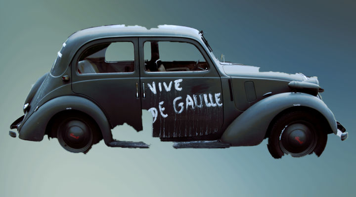11 - Photography ©2019 by Ulli Heupel -                                                                    Documentary, Surrealism, Car, Automobile, Resistance, Frankreich, D-Day, Normandie, St.Eglise sur Mer