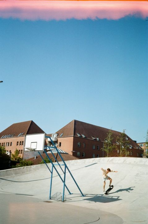 """Photography titled """"Summer Skate"""" by Ulrika L, Original Art, Analog photography"""