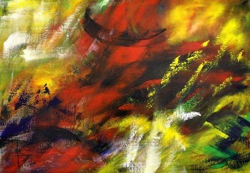 Painting,  100 x 70 cm ©2012 by Ulrike Holbinger -  Painting, Abstract Painting, Ulrike Holbinger  Carmen   Bizet Georges