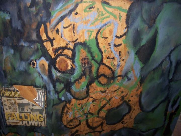 """Painting titled """"down and out """" by Ulysses Mcghee, Original Art,"""