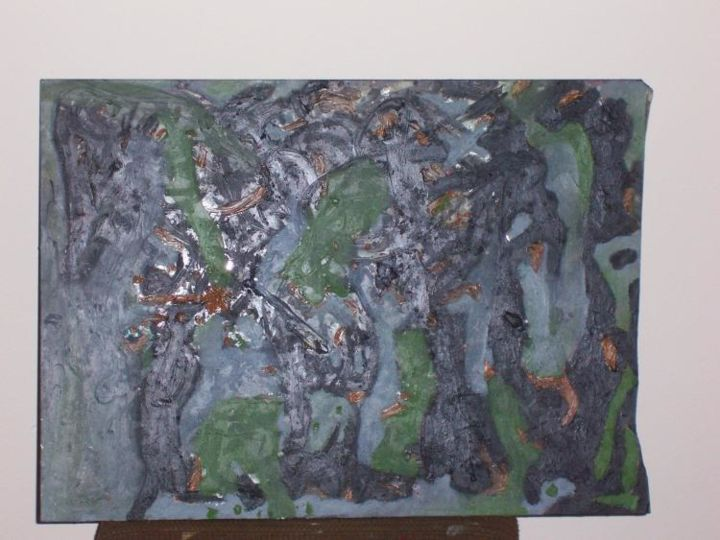 """Painting titled """"Untitled(glass pain…"""" by Ulysses Mcghee, Original Art,"""