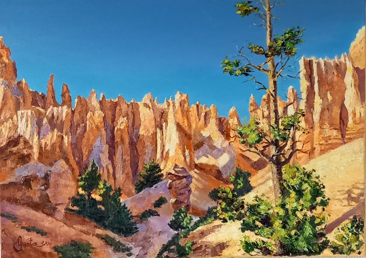 """Painting titled """"Bryce Canyon Nation…"""" by Gunta Upeniece, Original Art, Oil"""
