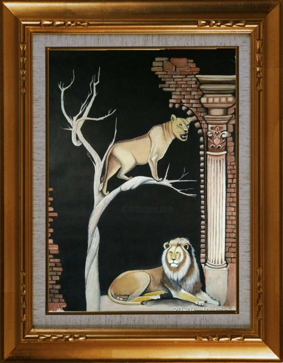 """Painting titled """"Untiled"""" by Chandan Mondal, Original Art, Watercolor Mounted on Cardboard"""