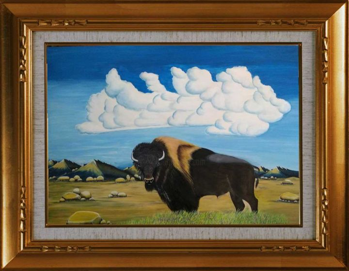 """Painting titled """"Wild"""" by Chandan Mondal, Original Art, Watercolor Mounted on Cardboard"""