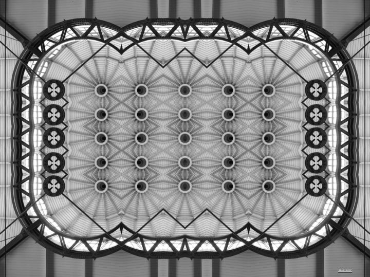 Distortion 4 - Photography, ©2015 by Wouter Koster -                                                                                                                                                                                                                                                                                                                                          Architecture, architecture, pattern, building, structure, transformation, Black and White