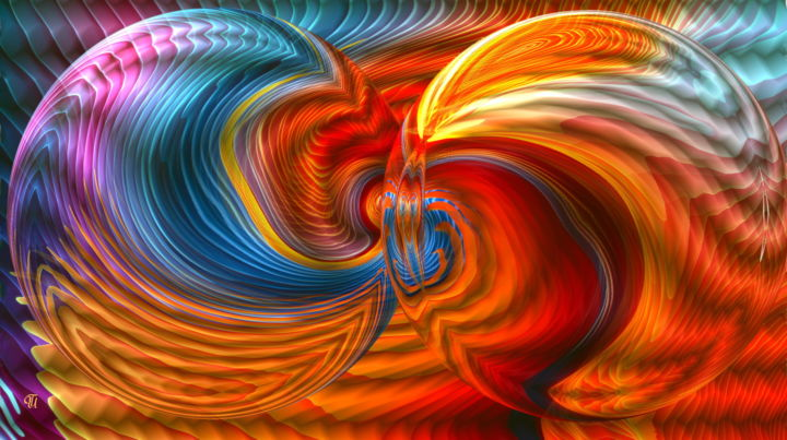 abstract und kugelig - Digital Arts ©2017 by UtheasArt -                                                                                                                    Abstract Art, Art Deco, Modernism, Pop Art, Abstract Art, Colors, Patterns, Fantasy, UtheasArt, Fantasy, Farben, orange, bunt, neon, Blickfang, Leinwanddruck, Digitalkunst, DigitalArtWork, beliebt, neu, Kugel, Ambiente, Dekorativ, modern, farbintensiv, Poster, Wandschmuck, Kunstwerk, Grafik