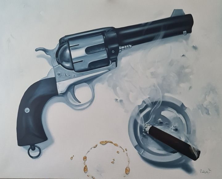 """Painting titled """",,PEACEMAKER,,"""" by Vadim Kovalev, Original Art, Oil Mounted on Stretcher frame"""