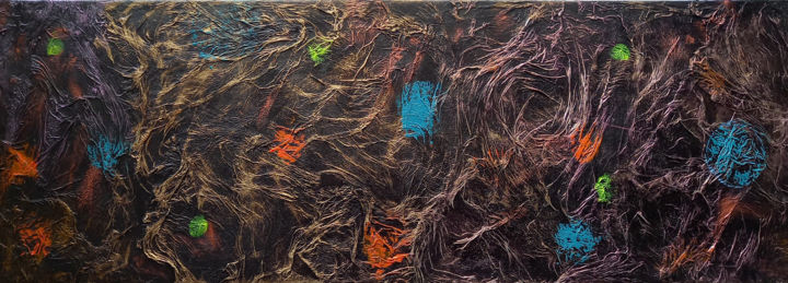 """Painting titled """"In The Labyrinth Of…"""" by Valdas Nariunas, Original Art, Acrylic"""