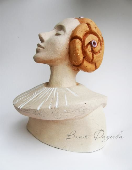 """In sounds"" - Sculpture,  26 cm ©2012 by Valentina Fadeeva -            ceramic sculpture"