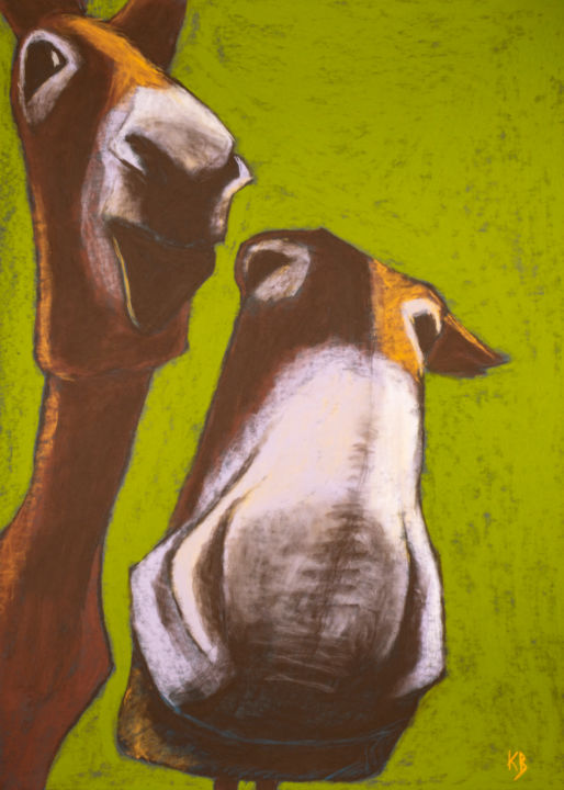 """Drawing titled """"Tertullien et Macor…"""" by Valentin Kanellopoulos, Original Art, Pastel"""