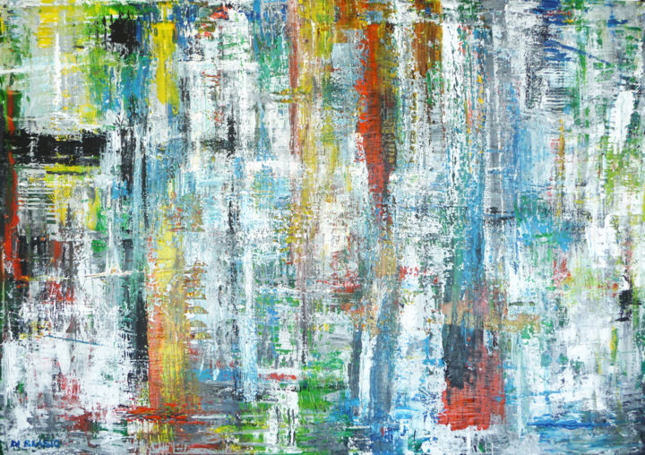Smarrimento - Painting,  27.6x39.4x0.8 in, ©2015 by Valeria Di Blasio -                                                                                                                                                                          Abstract, abstract-570, Abstract Art