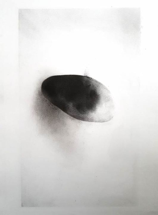 Drawing, charcoal, abstract, artwork by Valeriebrulev