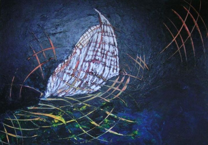 Voile - Painting,  70x50 cm ©2006 by vall -