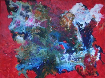 Abstrait rouge - Painting ©2006 by vall -