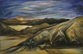 29 Palms - Painting ©2004 by Linda Vallejo -