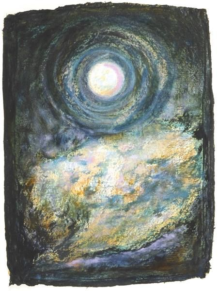 Full Moon on Sacred Grounds - Painting ©2004 by Linda Vallejo -