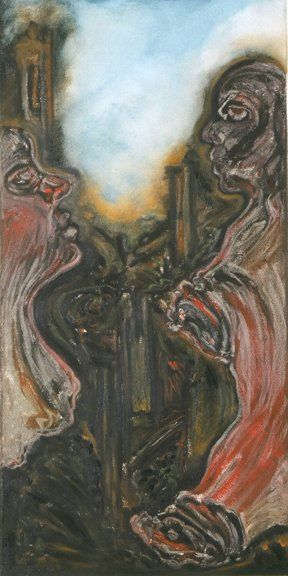 Horror 2 - Painting ©2004 by Linda Vallejo -