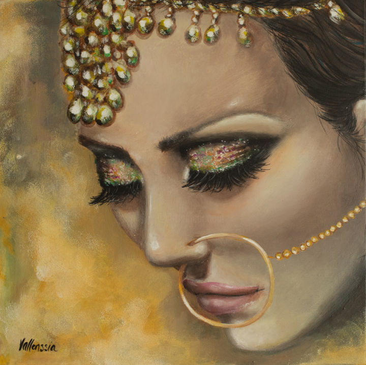 """Painting titled """"Bride Shimmer"""" by Vallenssia, Original Art, Acrylic"""