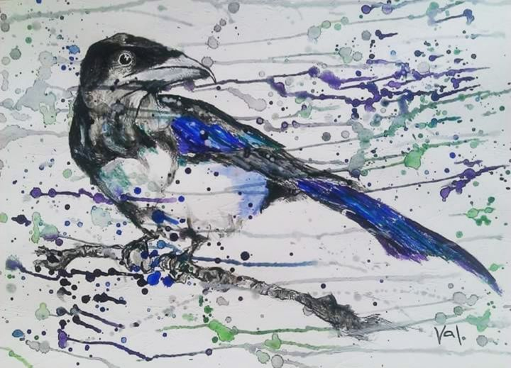 """Painting titled """"The Magnificent Mag…"""" by Valerija Pavic (Valerie Art), Original Art, Acrylic"""