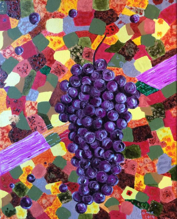 """Painting titled """"L'automne"""" by Vame, Original Art,"""